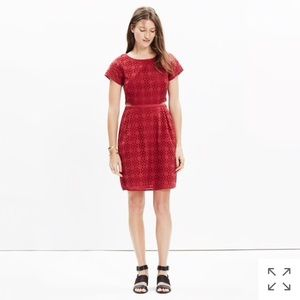 Madewell Eyelet Happening Cutout Dress